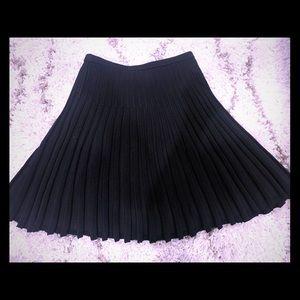 DVF Petite Ribbed Swing skirt